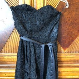 NWT express sz4 strapless dress black